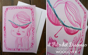 Handmade card-close up-diva