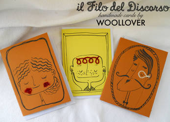 cards designed by me for WOOLLOVER,portrait set by Davanyta