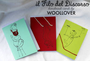 cards designed by me for WOOLLOVER,circus set