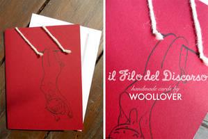 Handmade card-close up-the trapezist