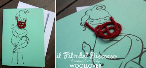 Handmade card-close up-the bearded lady by Davanyta