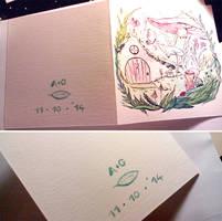 wedding card (detail) by Davanyta