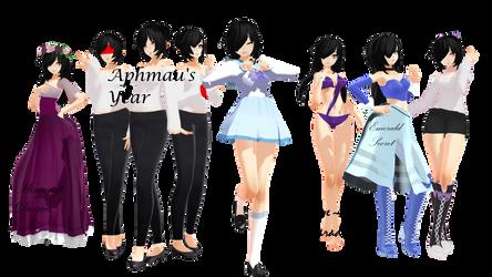 Aphmau Model Pack + DL [MMD] by Kira-Kira-Sky