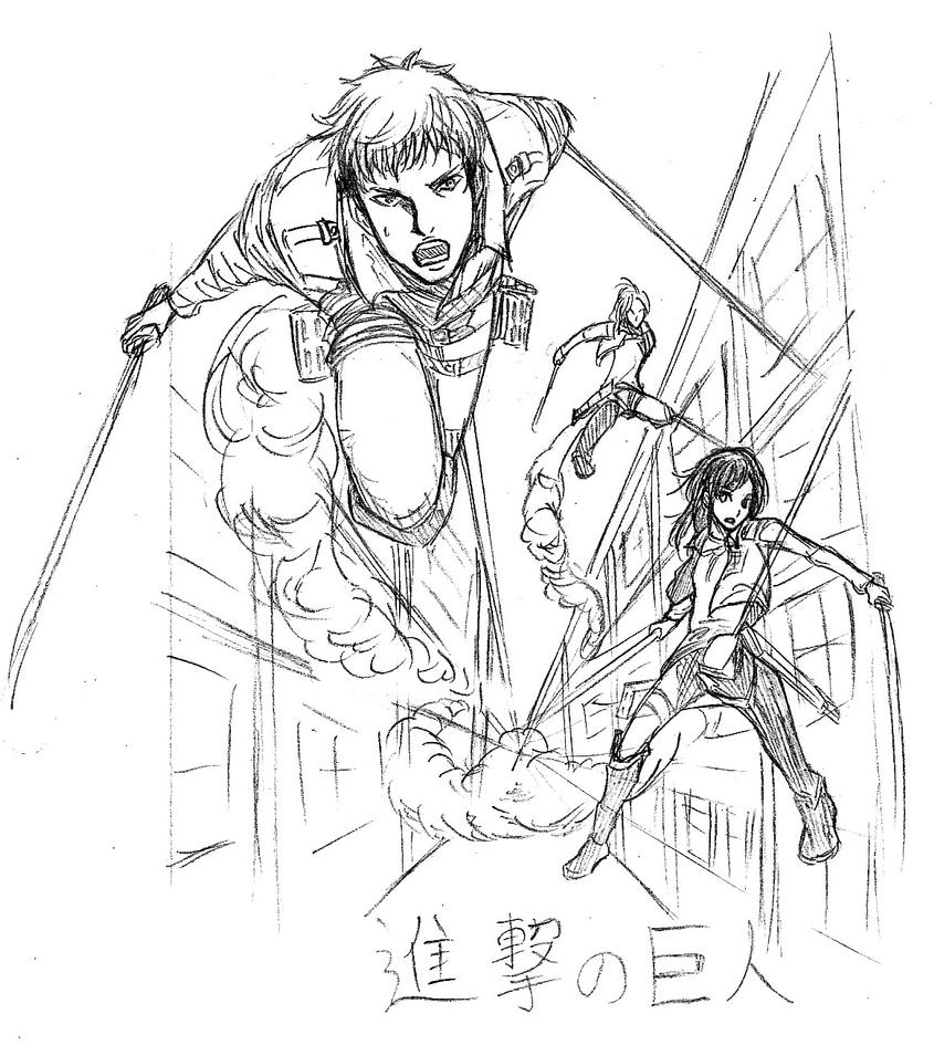 attack on titan coloring pages attack on titan free coloring pages