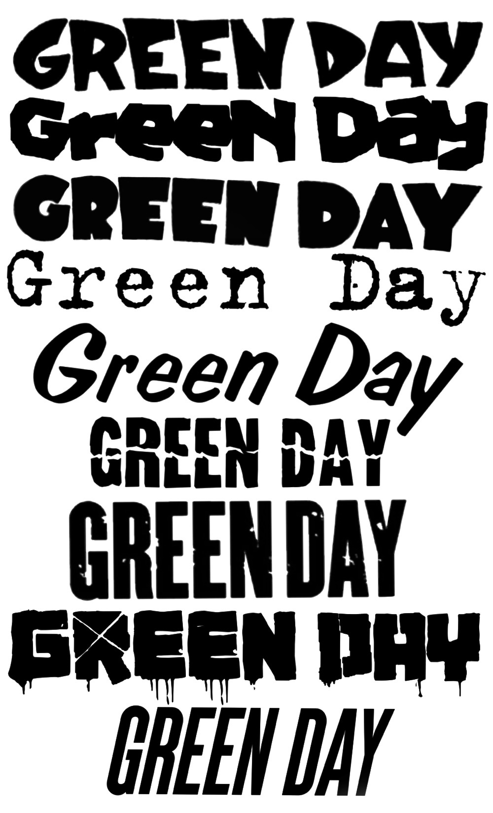 Green Day Logo History by FurretWaters