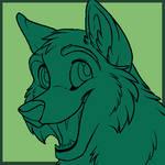 Cartoon Wolf Cub Icon  MS PAINT