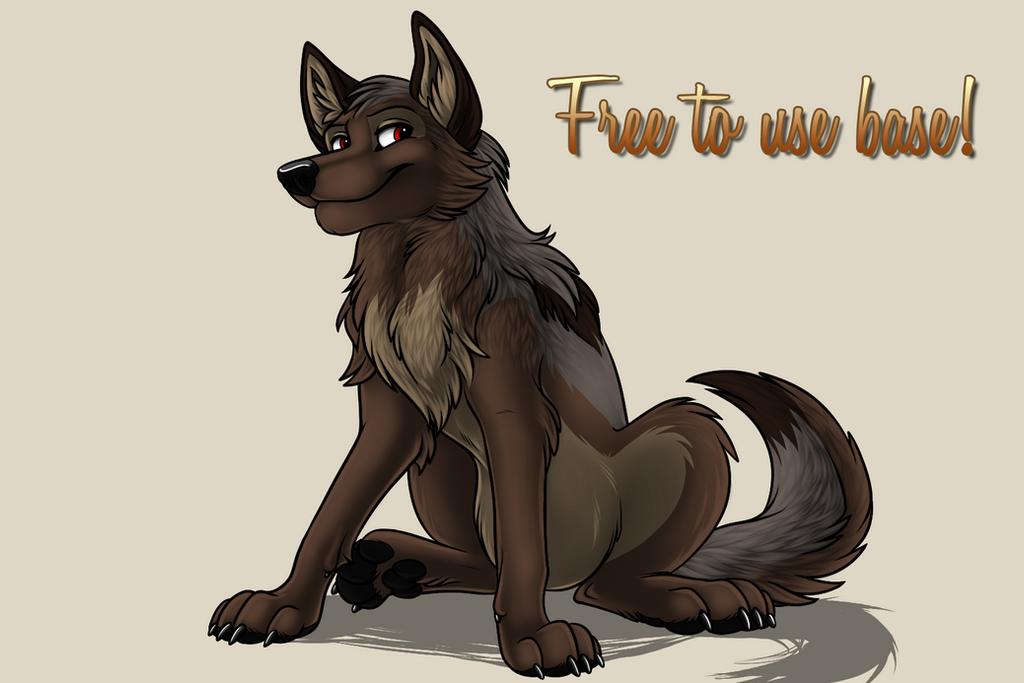 Free to use wolf base by Starwuff