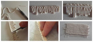 Tutorial knitted polymer clay