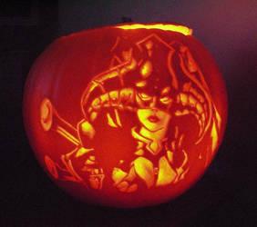 Deneghra pumpkin warmachine by OriginalBunny