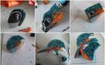 W.I.P  king fisher polymer clay cane