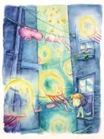 Flying Jellies by hiogen