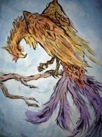 Phoenix Painting by kitkeys