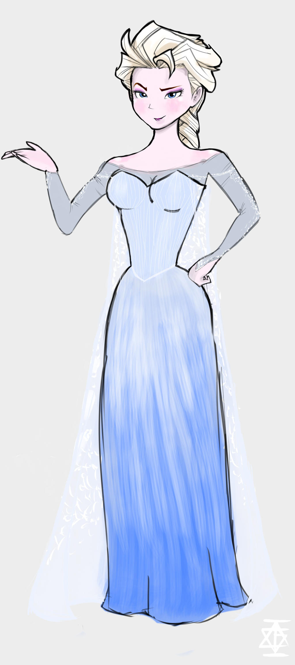Elsa Drawing Full Body Step By Step