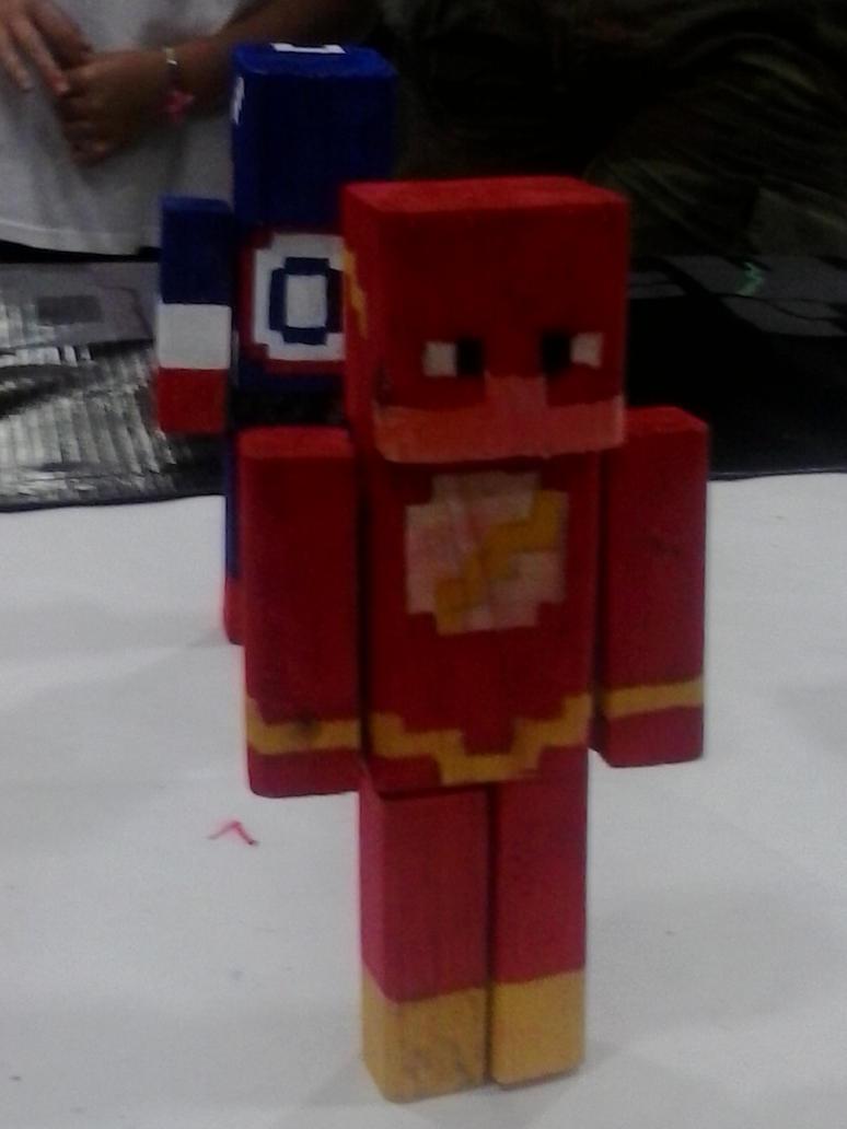 The Flash Minecraft Figurine by Bragalia