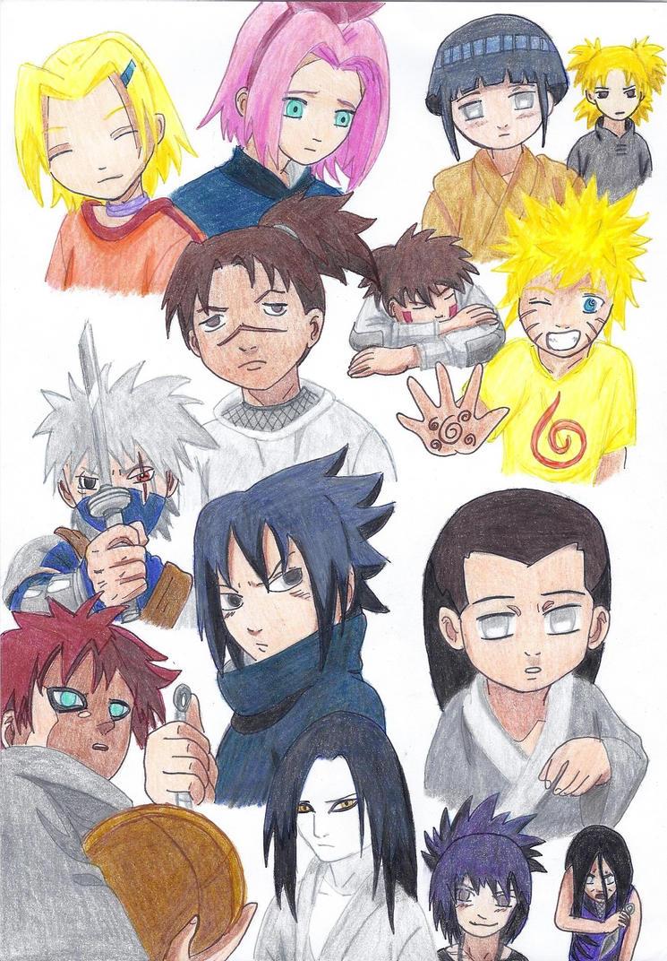 Naruto kids characters by Rumain on DeviantArt Gaara And Naruto Kids