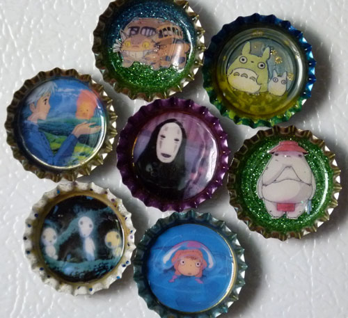 miyazaki magnets by bonnyblue22
