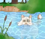 she swim!!