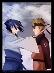 Distance - Naruto and Sasuke - by La-Reine-des-Cigales