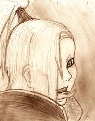 Deidara Sketch by La-Reine-des-Cigales
