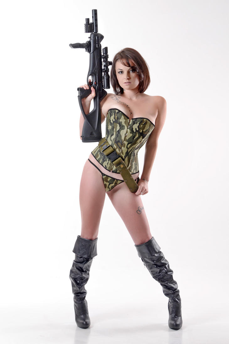 Katie with Beretta Cx4 Storm by Badassphotoguy