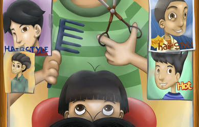 Barbershop Children's book cover by chaotic-idiot