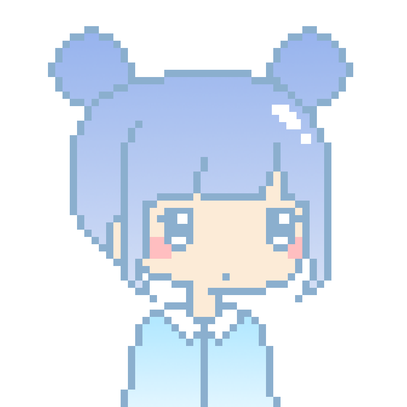 Top Kawaii Pixel Pastel Blue Space Buns Girl by anh2301 on DeviantArt NI54