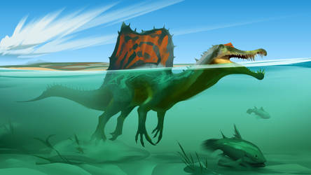 Gone Fishin' - Spinosaurus Aegyptiacus
