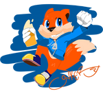 Conker the Squirrel (Conkers bad fur day)
