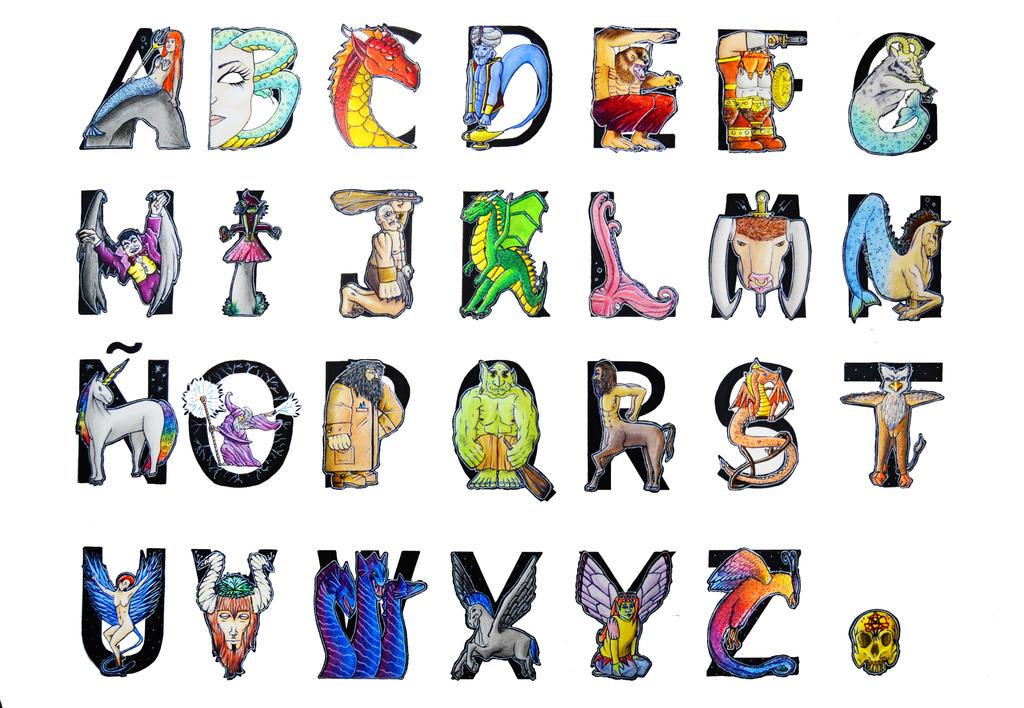 Fantasy alphabet - Typography by Danihl