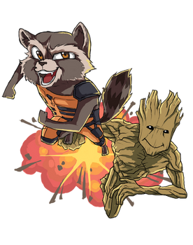 Rocket and Groot Contest Entry