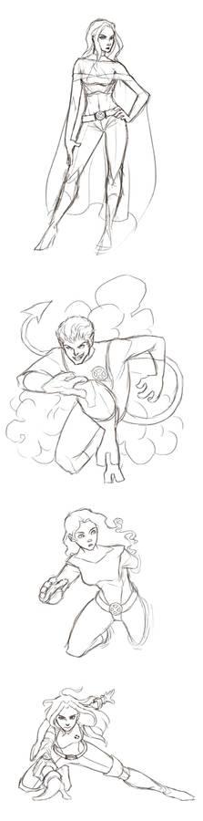 X-men Doodles