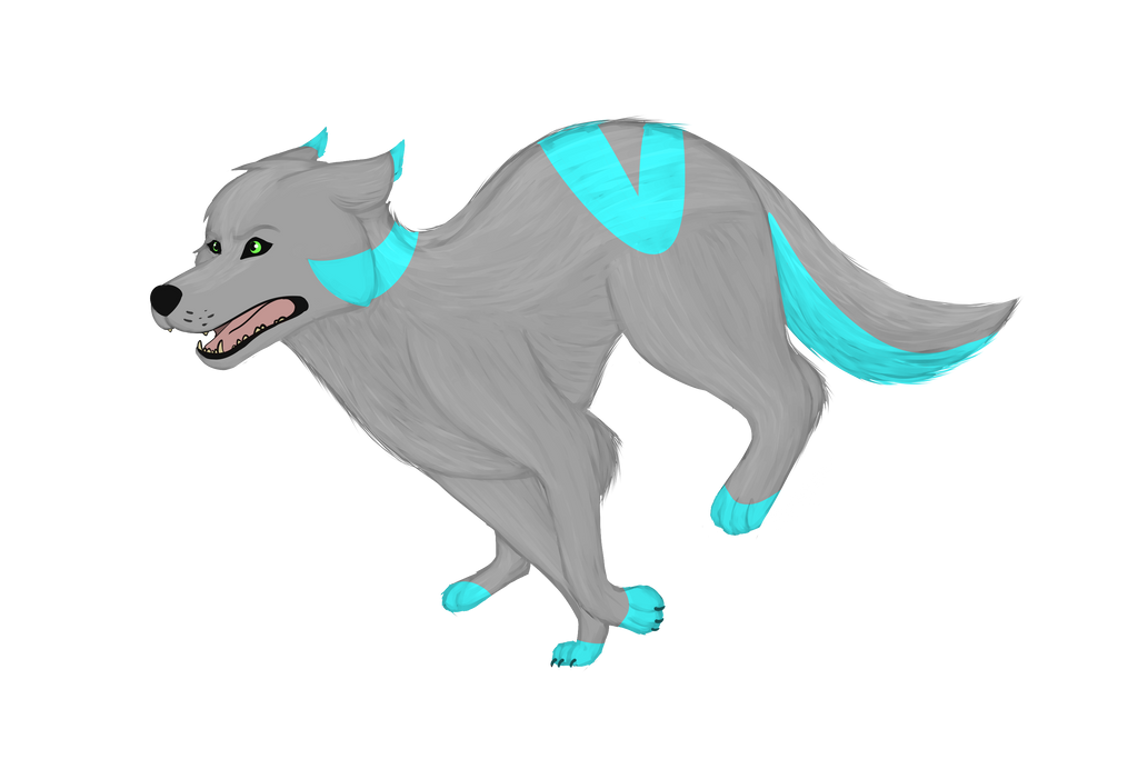 Running Wolf by Nevpaws