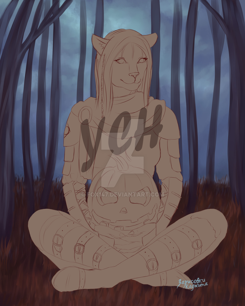Halloween YCH (OPEN AUCTION) by Fox147