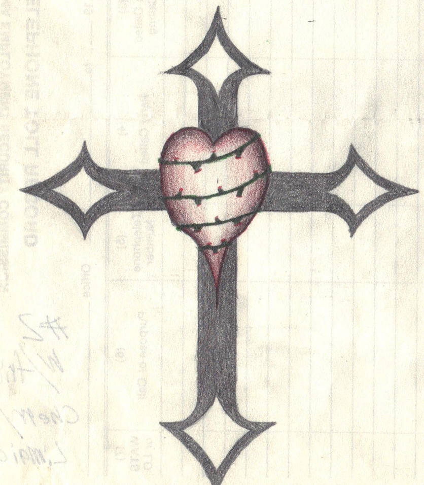 Drawings Of A Cross With A