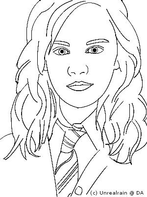 LINEART- Hermione Granger by unrealrain on DeviantArt