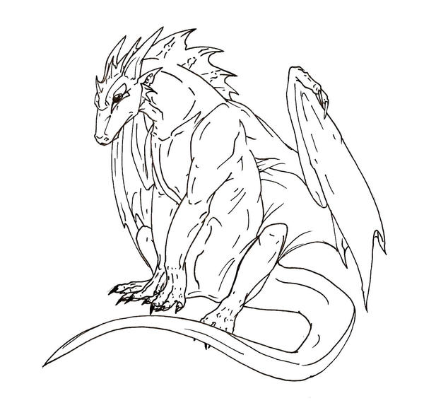 Dragon Lineart : Dragon lineart by glintzdragon on deviantart