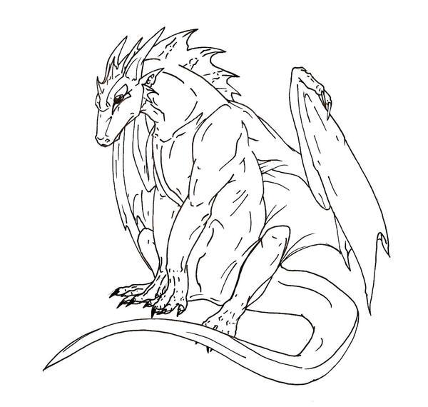 Line Art Dragon : Dragon lineart by glintzdragon on deviantart