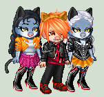 Toralei and the Twins Purrsephone and Meowlody by Luuandherdraws