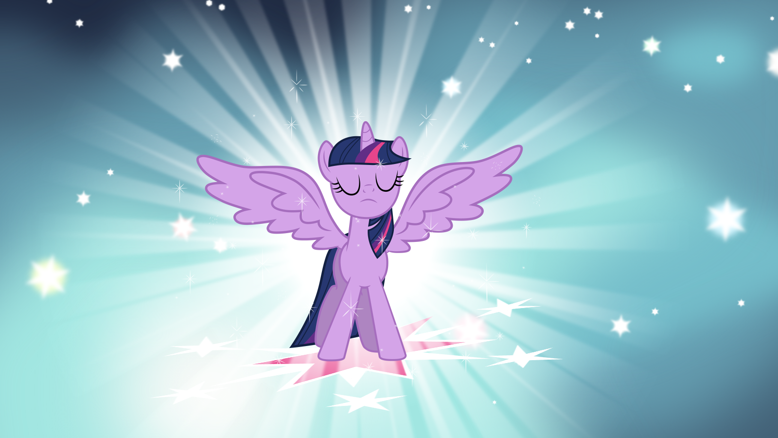 Alicorn Twilight Wallpaper v2 by Luuandherdraws