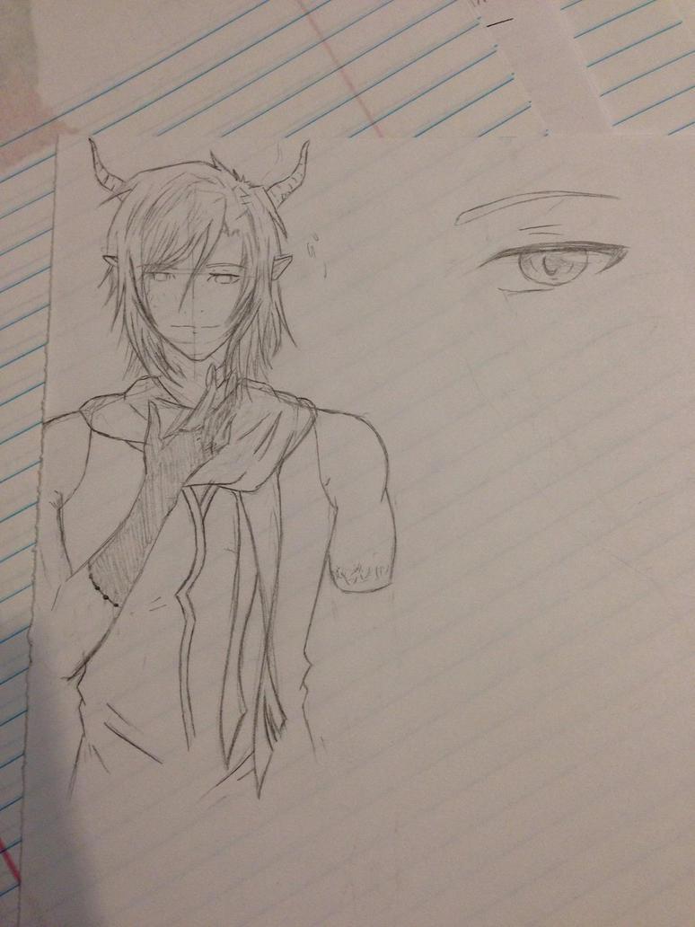 Demon Sketch by XxAkaiAuraxX