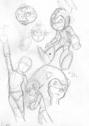 sketche of mega man by NICK-XMG