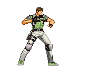 Chris Redfield strong kick by Riklaionel