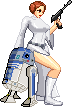 Princess Leia and R2-D2 by Riklaionel