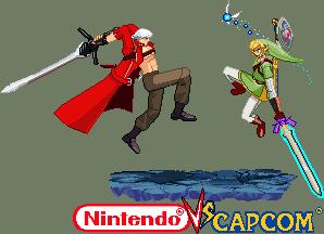 Dante vs Link Nintendo vs Capcom by Riklaionel