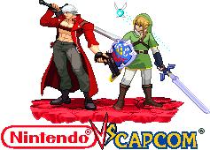 Dante and Link Nintendo vs Capcom by Riklaionel