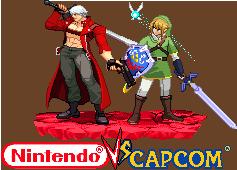 Dante and Link Nintendo vs Capcom by Riklaionel