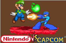 Luigi vs Megaman Nintendo vs Capcom by Riklaionel