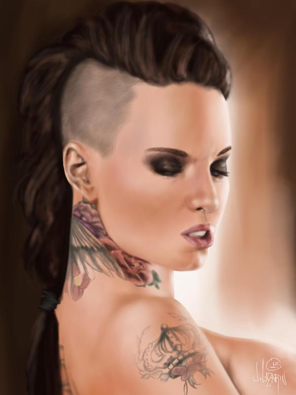 Christy Mack Digital Painting Lamarckxxx On Deviantart-pic4255