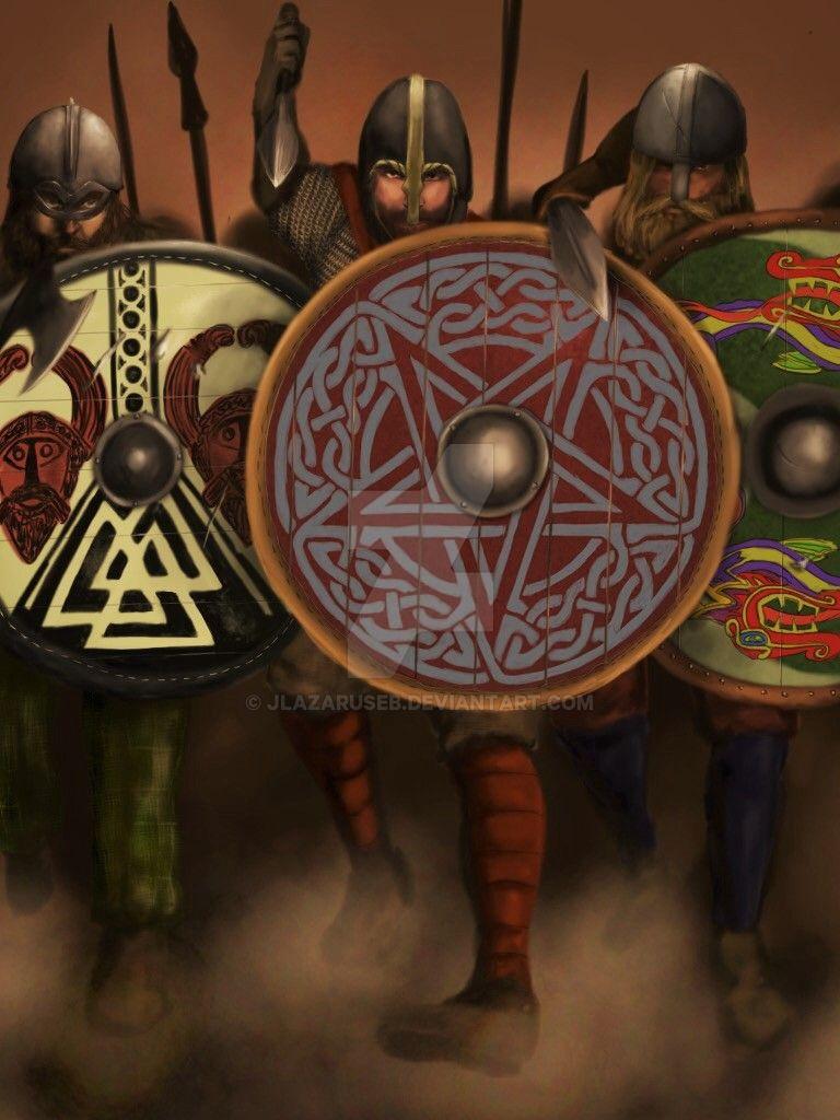 Pagan Shield Wall by JLazarusEB