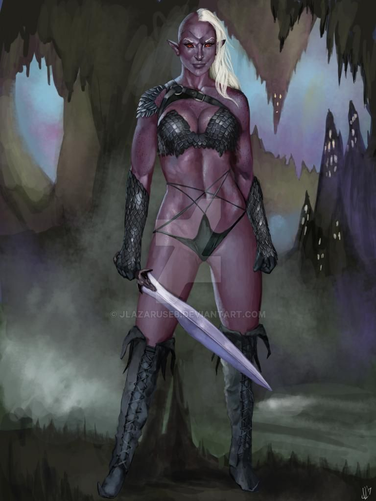 Drow Dark Elf Warrior by JLazarusEB
